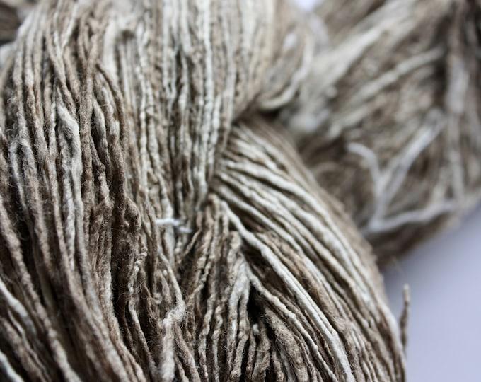 NEW** Light Tussar & Mulberry Handspun Silk Yarn