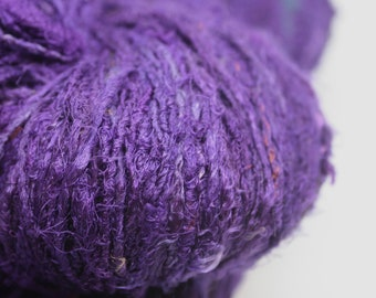 Handspun Recycled Mulberry Silk - Violet