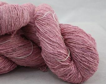 Handspun Recycled Mulberry Silk - Strawberry Sorbet