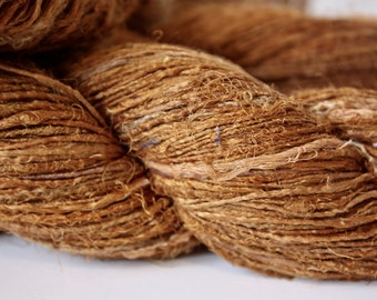 Handspun Recycled Mulberry Silk - Rust