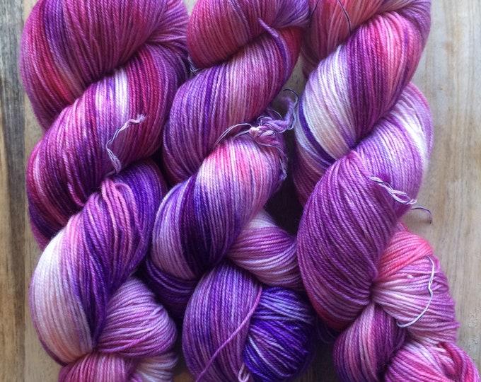 MYOGA Hand Dyed 4ply Superwash - 'Girly Twirl'