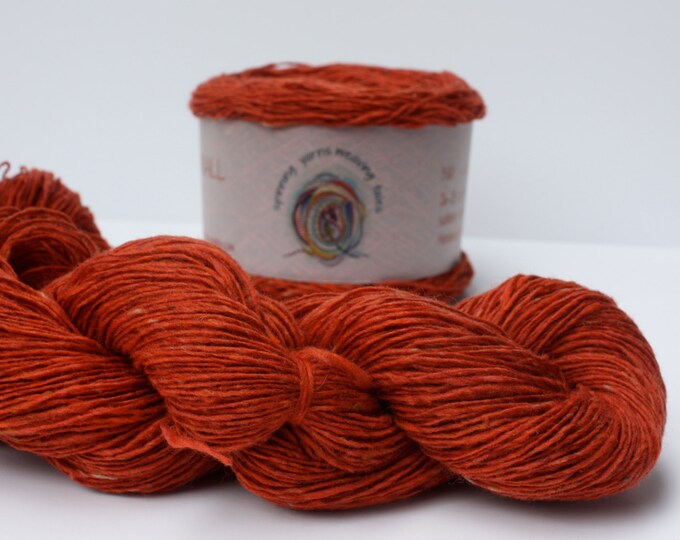 Spinning Yarns Weaving Tales - Tirchonaill 530 Orange copper 100% Merino 4ply
