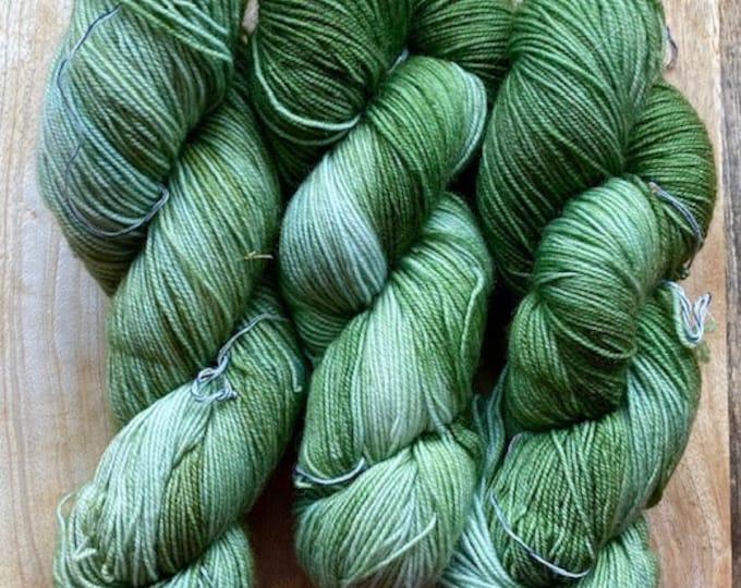 MYOGA Hand Dyed 4ply Superwash - 'Gathering Moss'