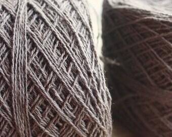 100% Hemp Yarn - Natural Dye - Col: 010 Ebony - Chocolate Brown