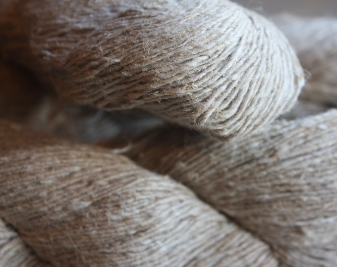 Handspun Hemp & Cotton Blend Yarn