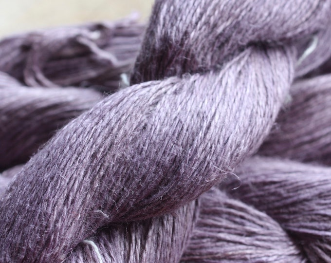 NEW**** - 6/2 Natural Dyed 100% Linen - Lt Purple - Sappanwood