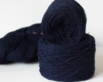 100% Hemp Yarn - Natural Dye - Col: 013 Indigo - Dark Blue