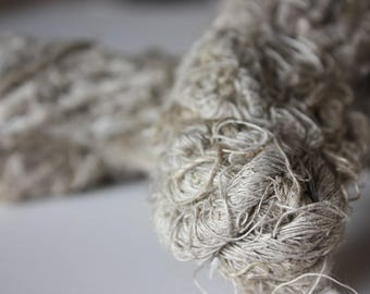 Chunky Recycled Handspun Natural Linen