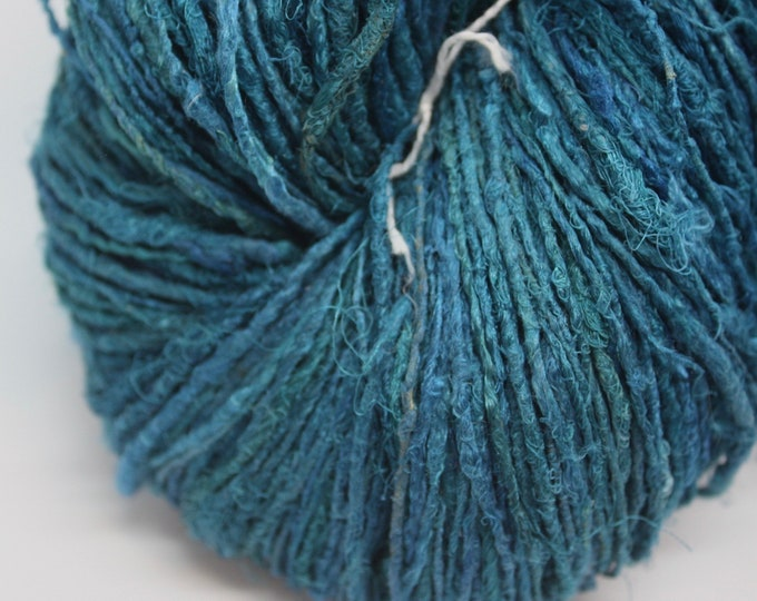 NEW***Handspun Recycled Mulberry Silk - Peacock