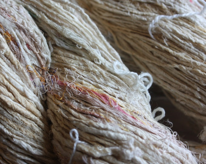 NEW** Rough Handspun Mulberry Silk Yarn - Med #39