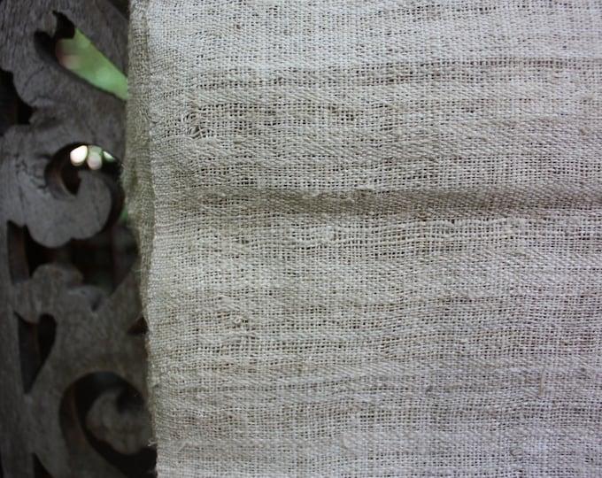 Handspun Handwoven Hemp Runner Cloth
