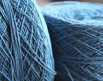 100% Hemp Yarn - Natural Dye - Col: 015 Light Indigo