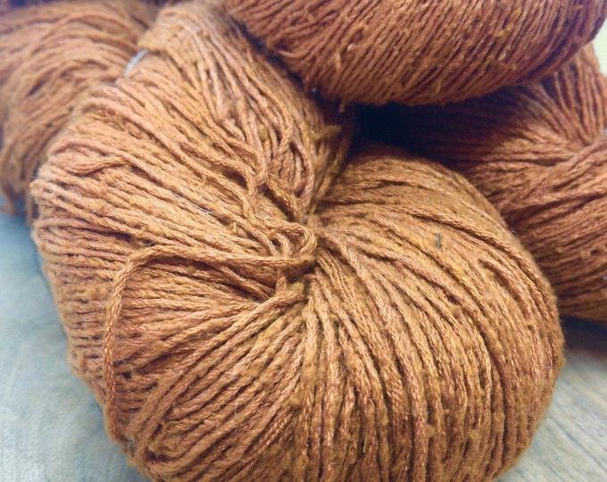OAK Batch** Hand Dyed Slubby Eri Silk** Copper