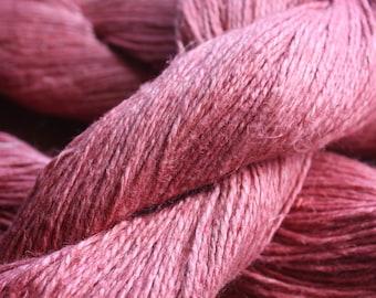 NEW**** - 6/2 Natural Dyed 100% Linen - Terra Pink