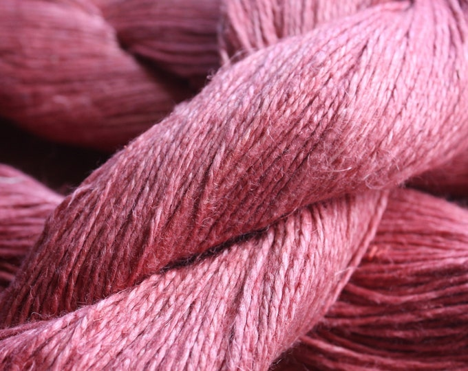 6/2 Natural Dyed 100% Linen - Terra Pink - Madder