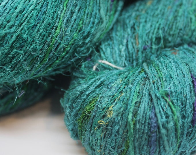 NEW***Handspun Recycled Mulberry Silk - Turquose