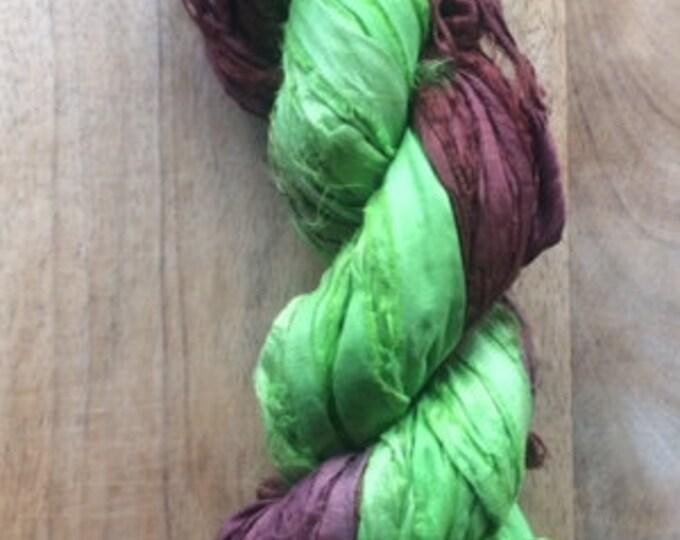 CLEARANCE - Recycled Sari Silk Ribbon
