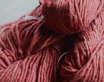 NEW**2.5/1 Handmade Mulberry Noil Silk Yarn - Madder
