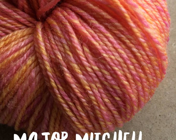 Elements Collection - Col Major Mitchell Orange 4 ply supersoft 100% Merino