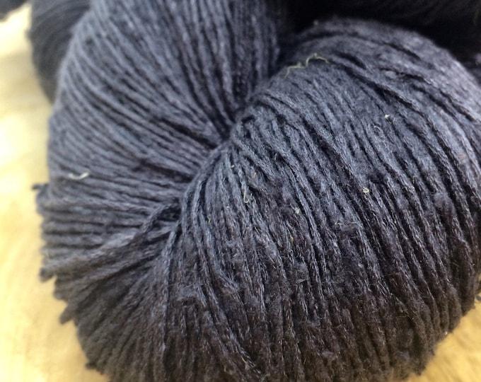OAK Batch** Hand Dyed Slubby Eri Silk** Bluestone