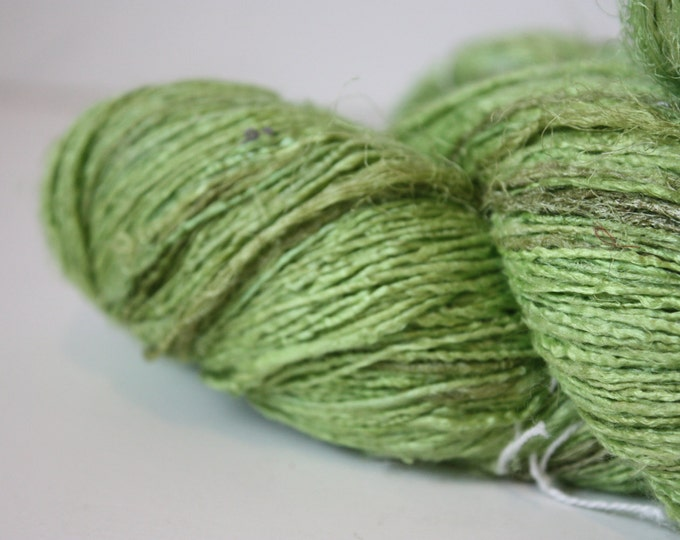 Handspun Recycled Mulberry Silk - Lime Sorbet