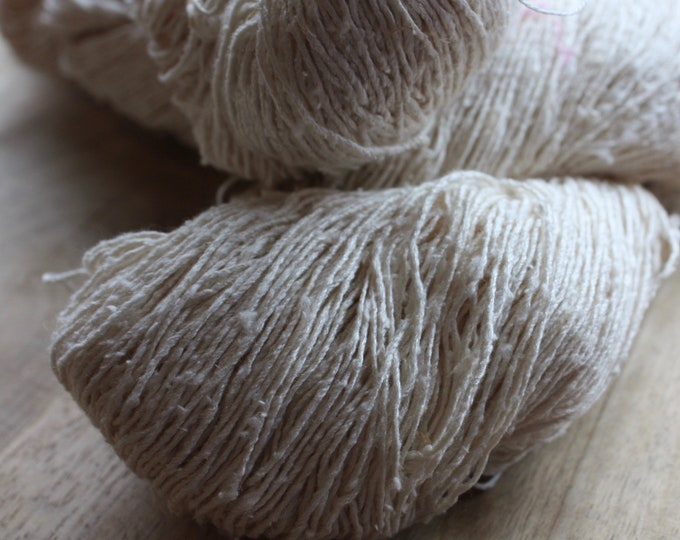 OAK Batch** Hand Dyed Slubby Eri Silk** Natural
