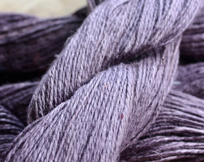 NEW **** - 6/2 Natural Dyed 100% Linen - Dk Purple - Sappanwood/Iron