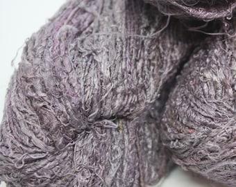 NEW***Handspun Recycled Mulberry Silk - Grape