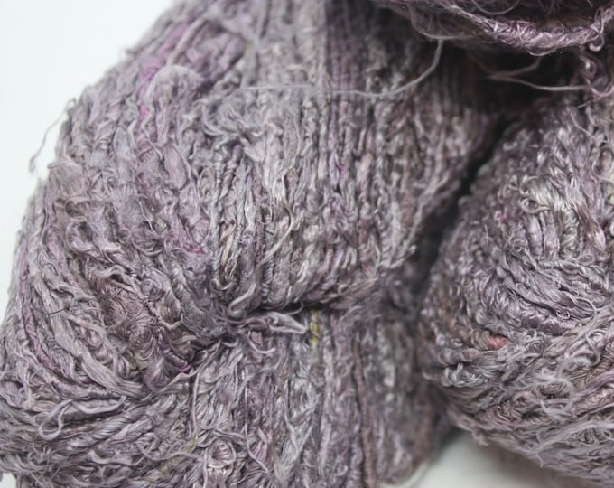 NEW***Handspun Recycled Mulberry Silk - Grape