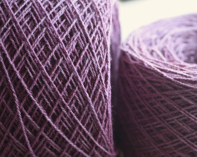 100% Hemp Yarn - Natural Dye - Col: 008 Lac -Magenta Purple