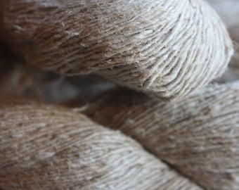 Handspun Hemp & Cotton Blend Yarn
