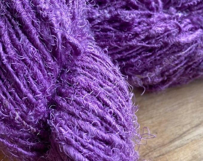 Handspun Recycled Mulberry Silk - Mauve