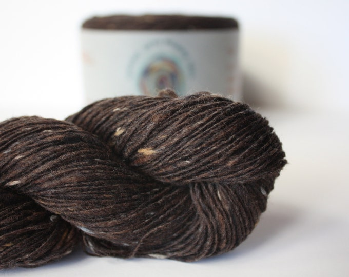 Spinning Yarns Weaving Tales - Tirchonaill 513 Chocolate 100% Merino 4ply