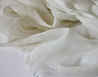 Natural Undyed Pure Wool Scarf - BULK BUY AVAILABLE