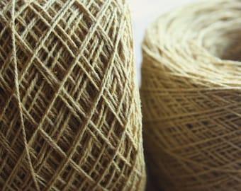 100% Hemp Yarn - Natural Dye - Col: 018 Jackfruit - Mustard Yellow