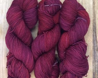 MYOGA Hand Dyed 4ply Superwash -'Turkey Red'