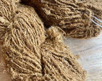 Handspun Recycled Mulberry Silk - Old Gold
