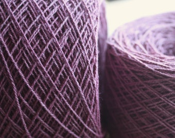 100% Hemp Yarn - Natural Dye - Col: 008 Lac - Purple