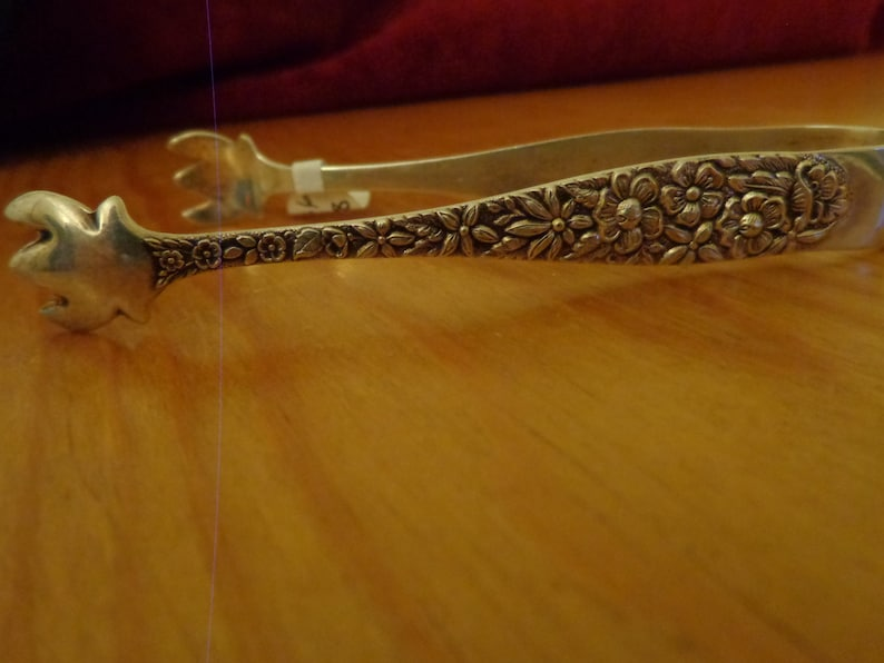 Sterling Silver Manchester Southern Rose Sugar Tongs