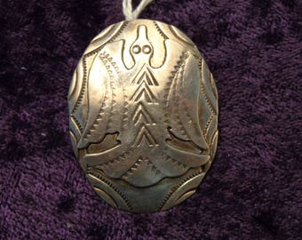 Sterling Silver Phoenix Pendant - HIJE (Handmade Indian Jewelry) Stamped on the back above Sterling