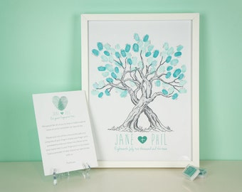 Custom Wedding Fingerprint Tree Guestbook