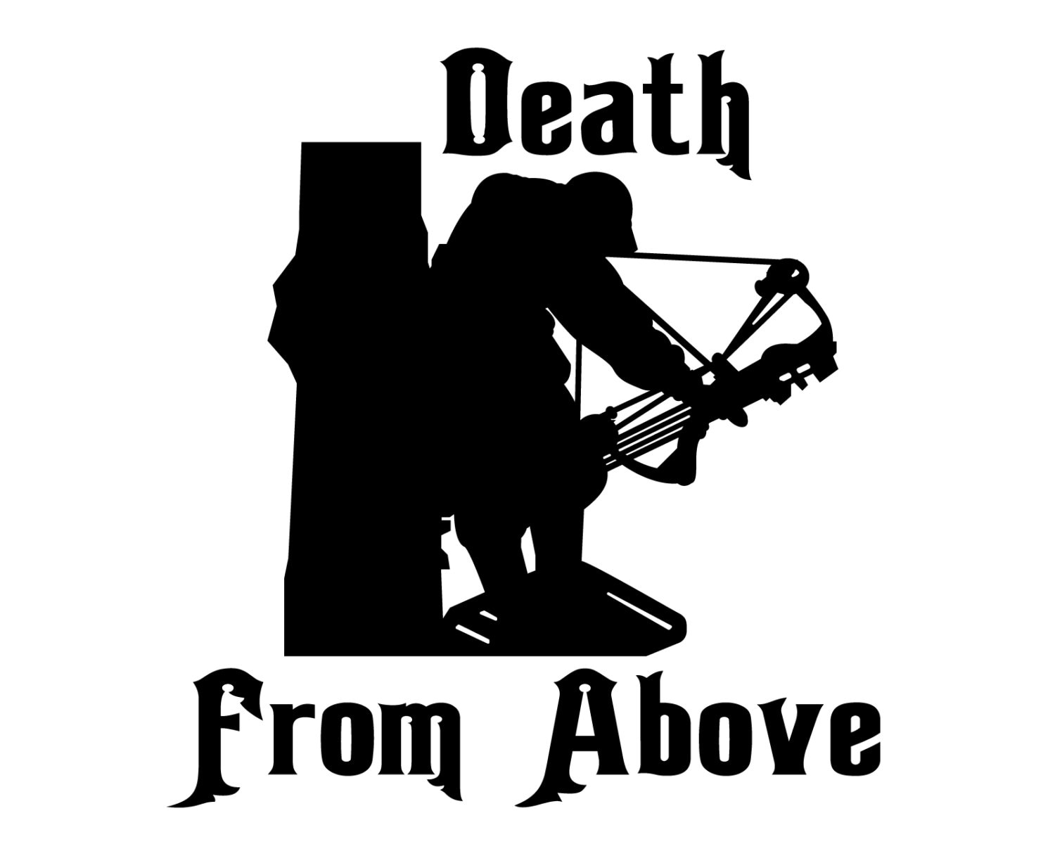 Bow hunting decal bow hunter sticker death from above etsy