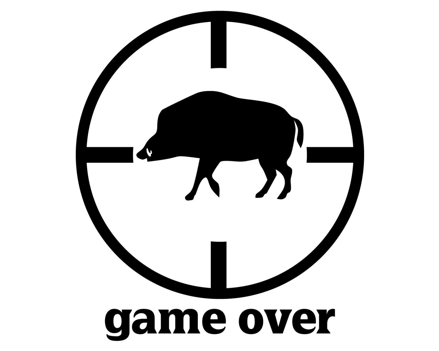 Wild boar hunter decal hog hunting sticker hog hunter game over decal