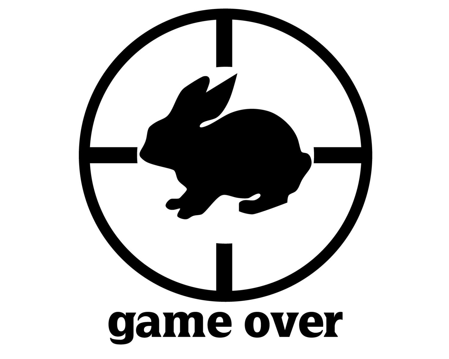 Rabbit hunter decal rabbit hunting sticker small game hunter game over decal