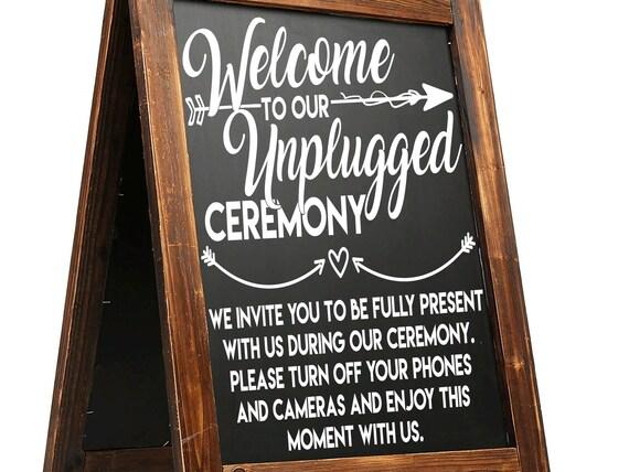 wedding decal unplugged ceremony no photos vinyl sign mirror chalk board sticker