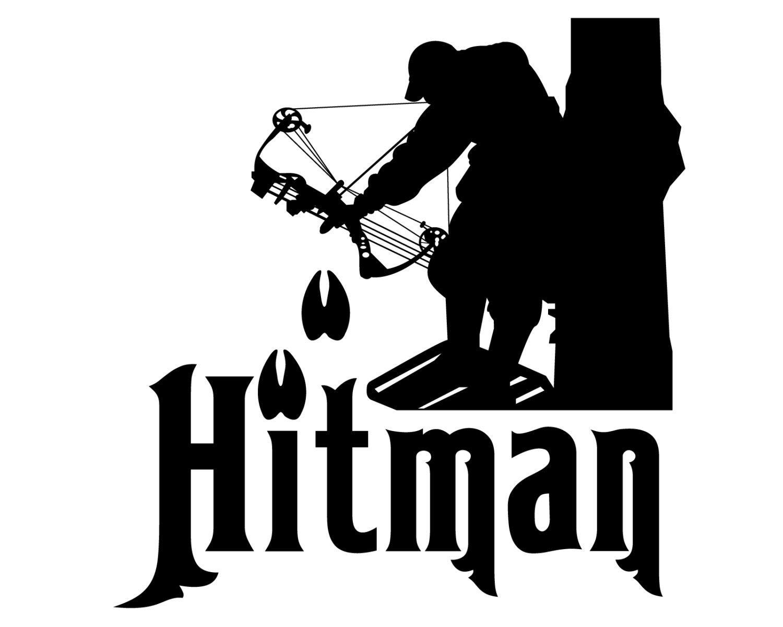 Bow hunting vinyl decal hitman bow hunter sticker deer etsy