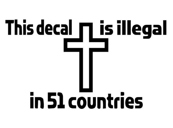 Christliche Aufkleber Dieser Aufkleber Ist Illegal Abziehbild Christian Sagt Aufkleber Christian Meldung Aufkleber