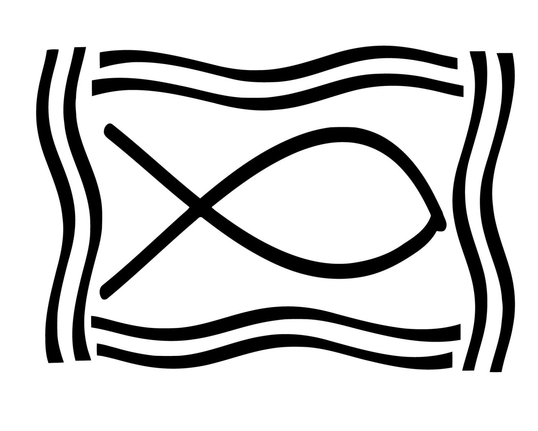 Jesus Fish Decal Christian Fish Sticker Religious Fish