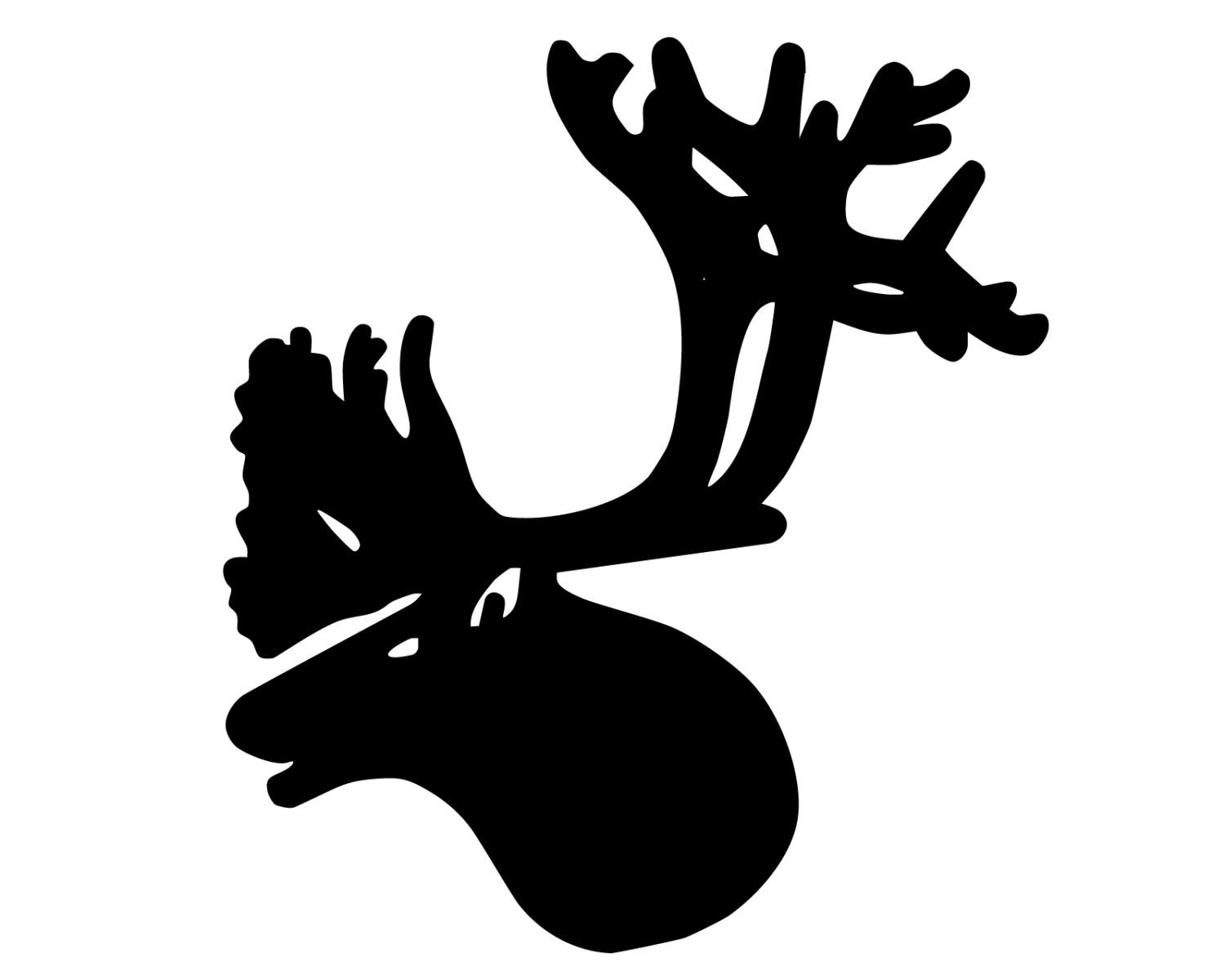 Caribou hunting decal caribou hunter sticker caribou etsy