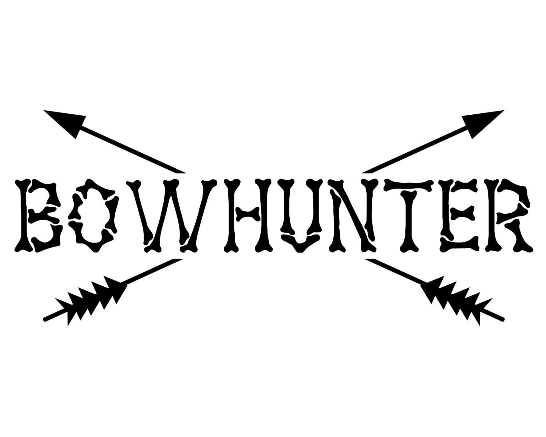 Bow hunter vinyl decal bow hunting sticker bowhunter etsy